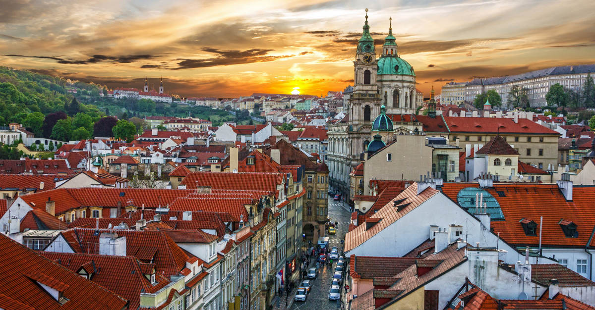 Historical castles complement a wild nightlife in Prague.