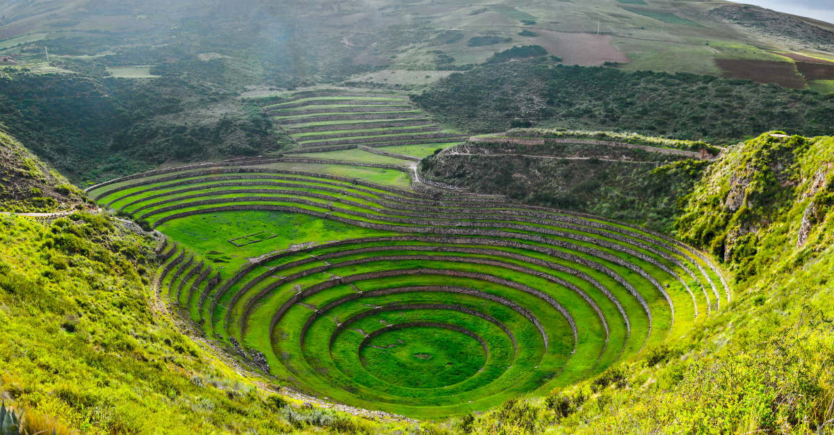 Incan ruins bring in the backpackers that want a look at history.