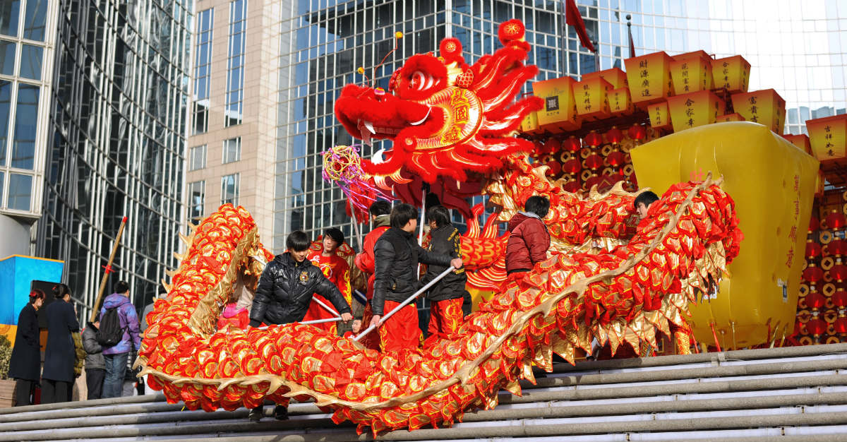 China's capital takes pride in its Dragon Dance during the Lunar New Year.