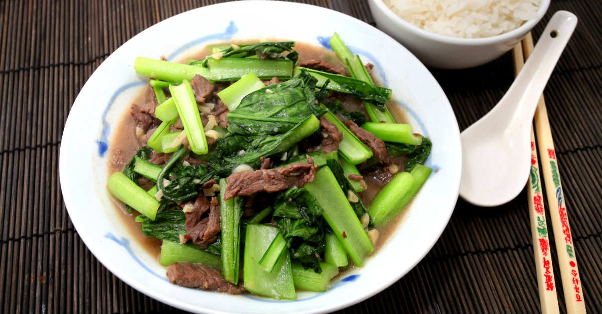 Locals rave over the choy sum cooked in oyster sauce.