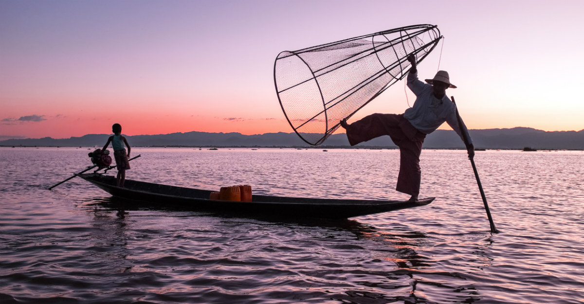 The heat of Inle Lake is much more bearable in the rainy season.