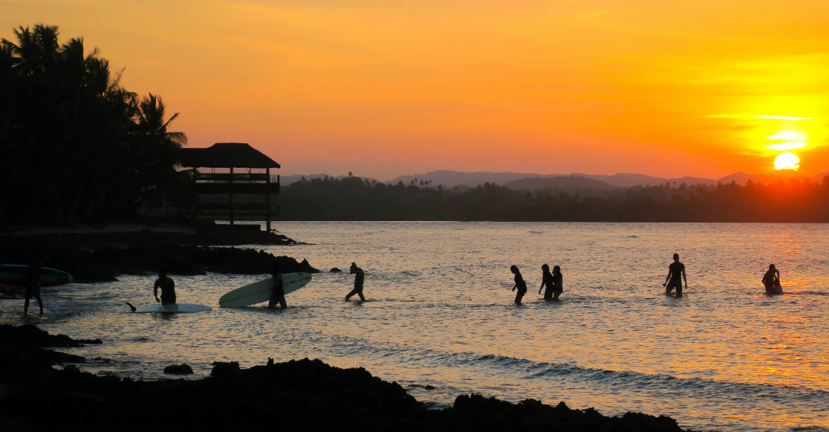 Siargao, a top surfing destination, is at its best during the rainy season.