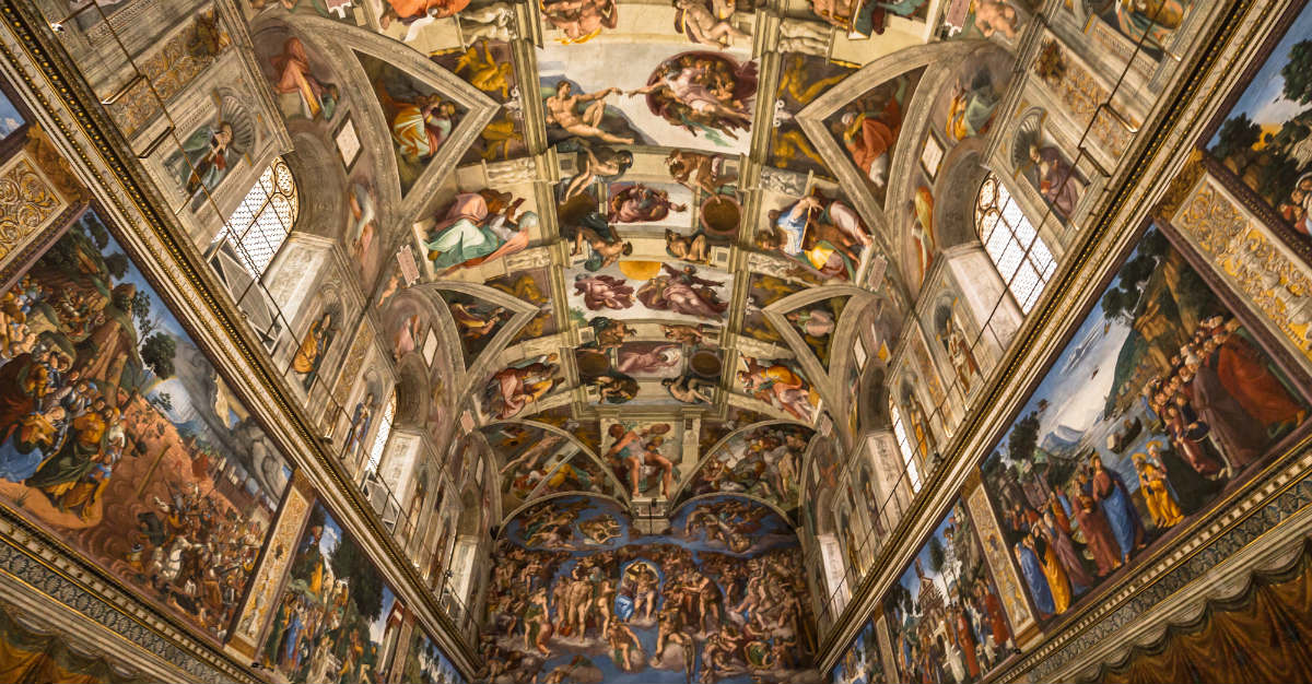 The Sistine Chapel allows no room for photos in the famous location.