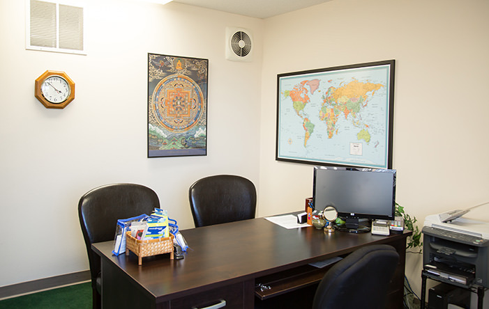 Passport Health's Central West Chester consult room.