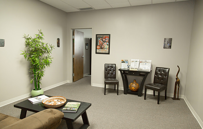 Passport Health's Dayton clinic has a very comfortable and welcoming waiting room.