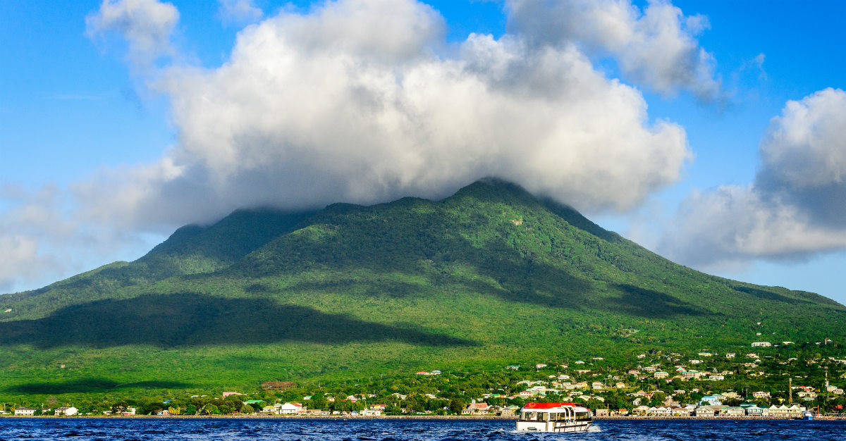 A volcano in Nevis that's perfect for biking trails.