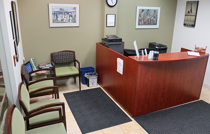 Passport Health's Boulder clinic has a very comfortable and welcoming waiting room.