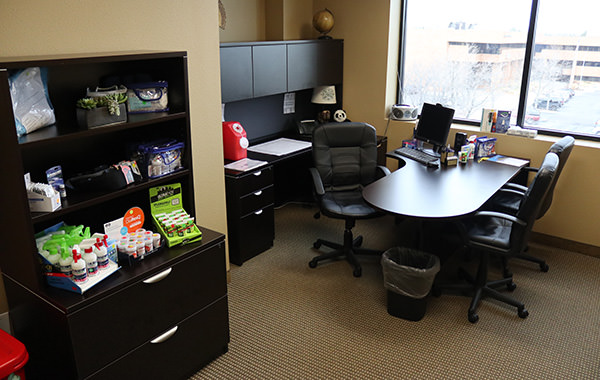 Passport Health's Fort Collins consult room is the perfect place to receive travel vaccines and advice.