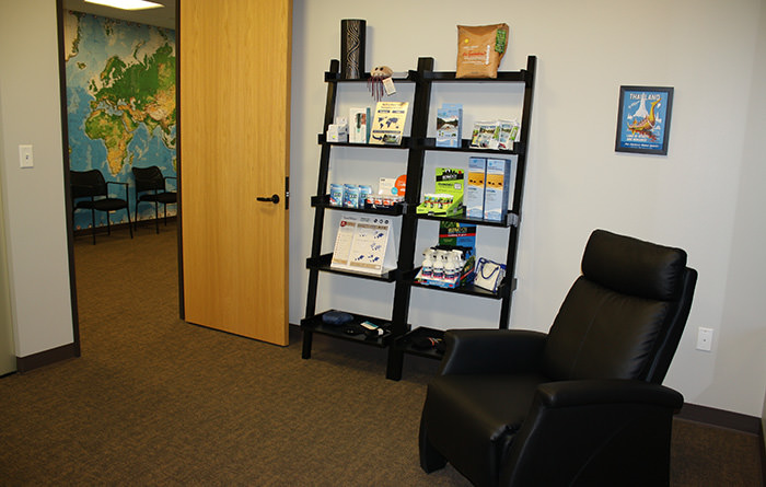 Passport Health offers a wonderful and relaxing waiting room.
