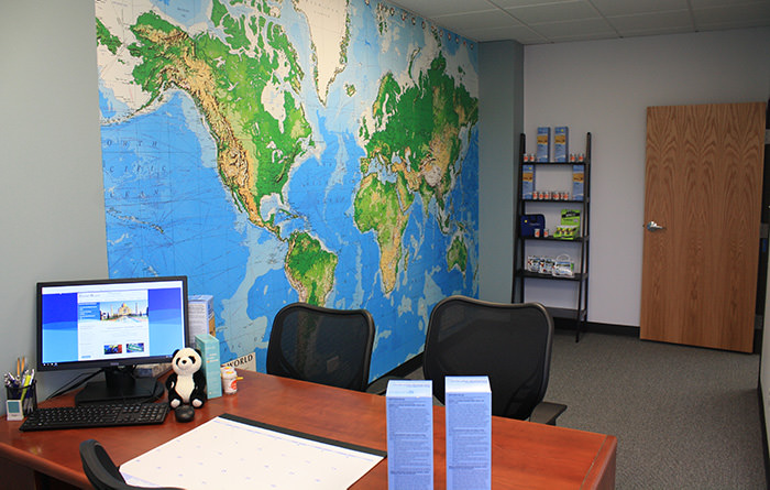 Passport Health's Parker consult room is the perfect place to receive travel vaccines and advice.