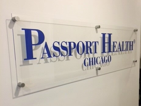 Passport Health Chicago sign