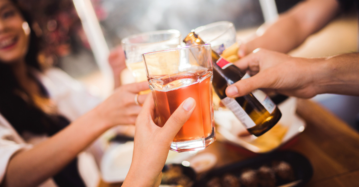 A study shows that alcohol can greatly increase cancer risk.