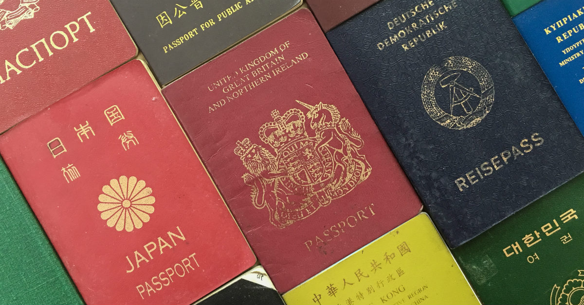 There's a reason for those different colors and designs on passports.