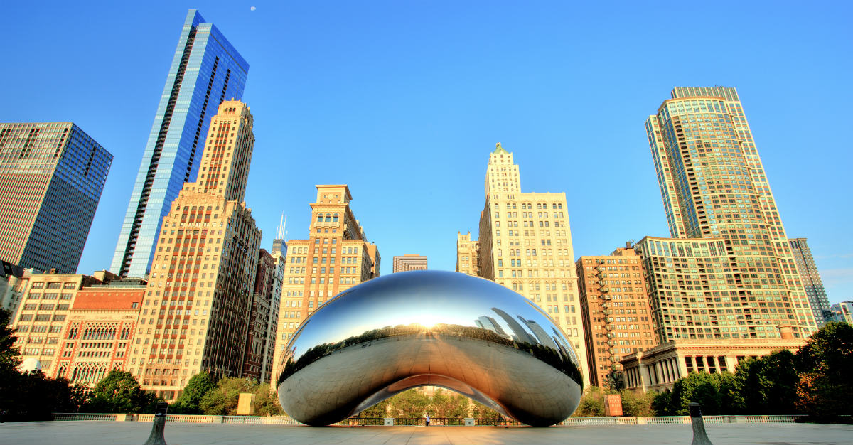 Downtown Chicago is packed with the city's culture.