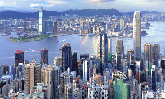Hong Kong City in China