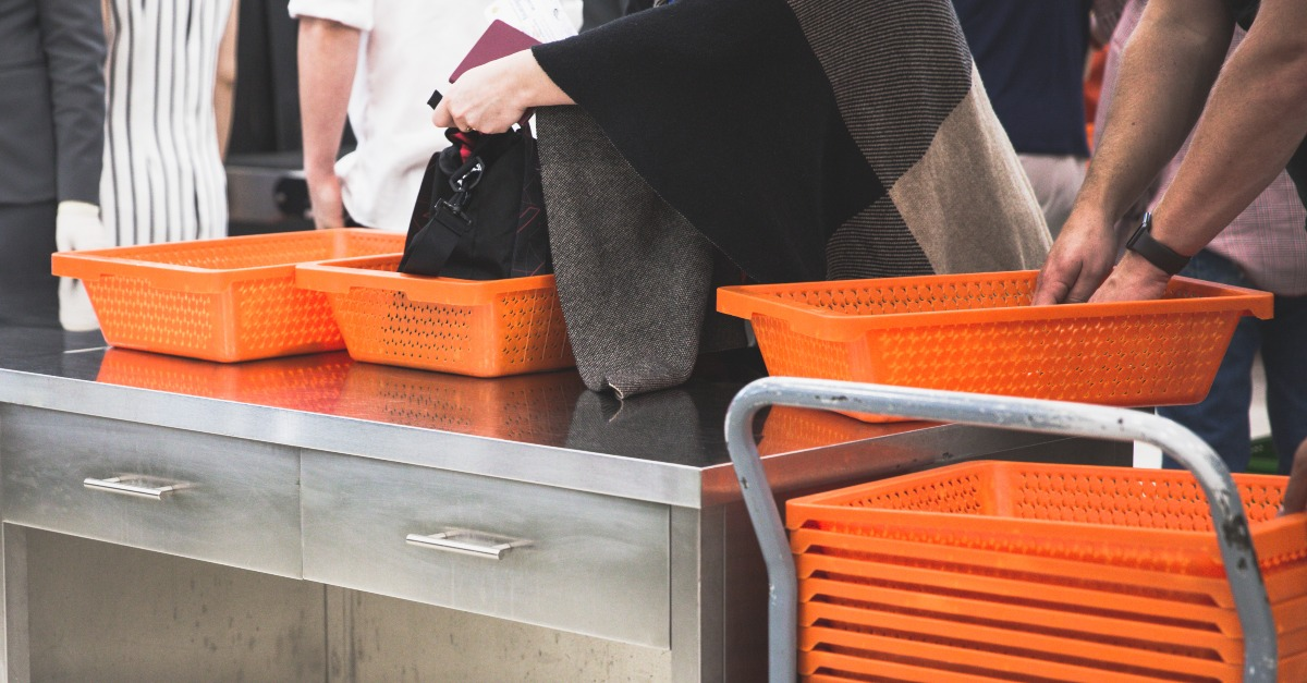 The bins at security spreads more germs than any other part of the airport.