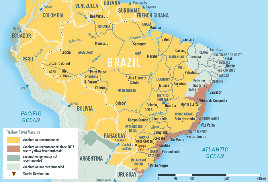 Travel Vaccines and Advice for Brazil | Passport Health