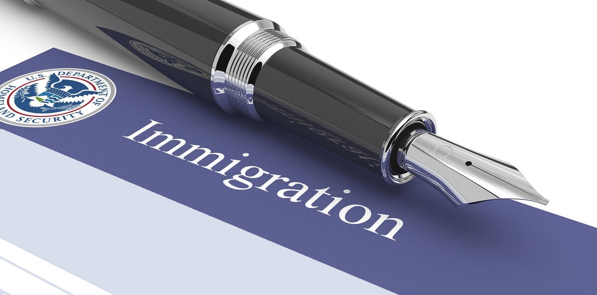 Immigration Form with Pen