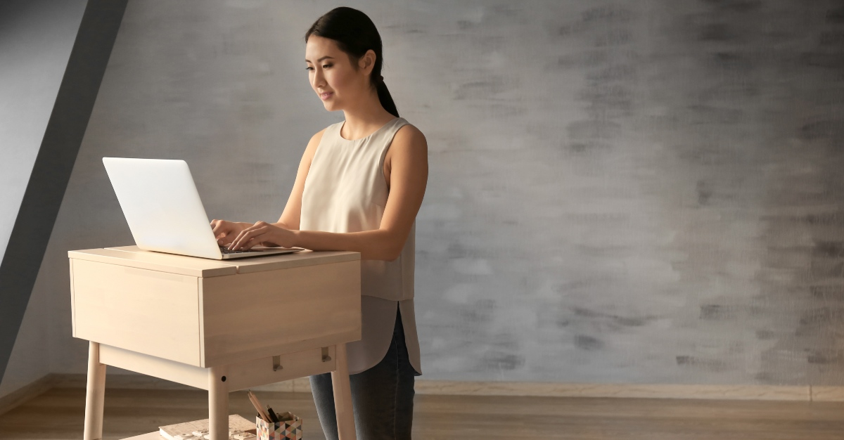 Standing desks are a growing trend at businesses, but do they improve health?