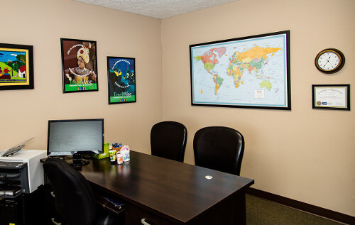 Passport Health's Anderson consult room is the perfect place to receive travel vaccines and advice.