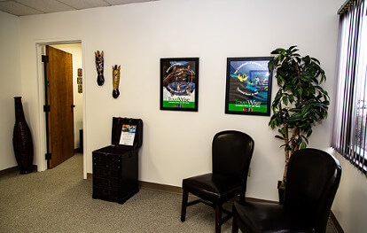 Passport Health's Beaver Creek clinic has a very comfortable and welcoming waiting room.