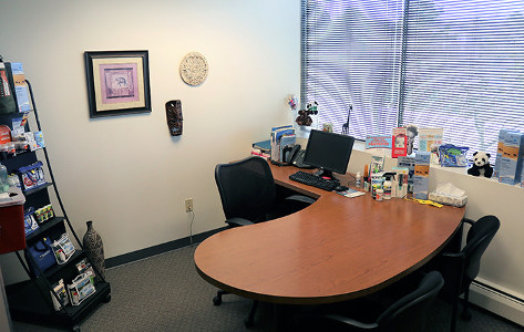 Passport Health's Lakewood consult room is the perfect place to receive travel vaccines and advice.