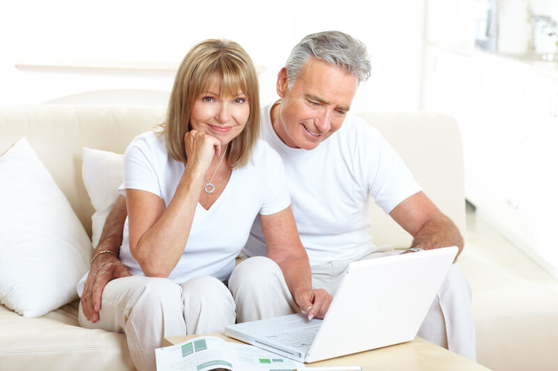Happy Couple with Computer