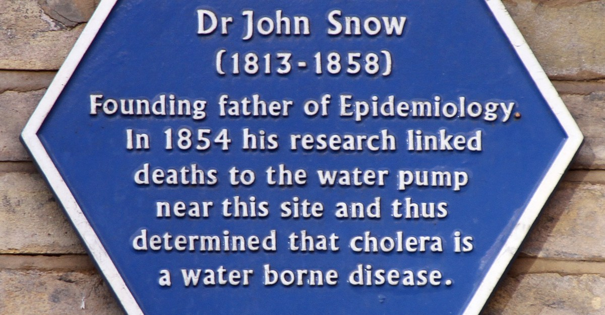 In finding the source of cholera, Dr. Snow is now remembered as the father of disease study.