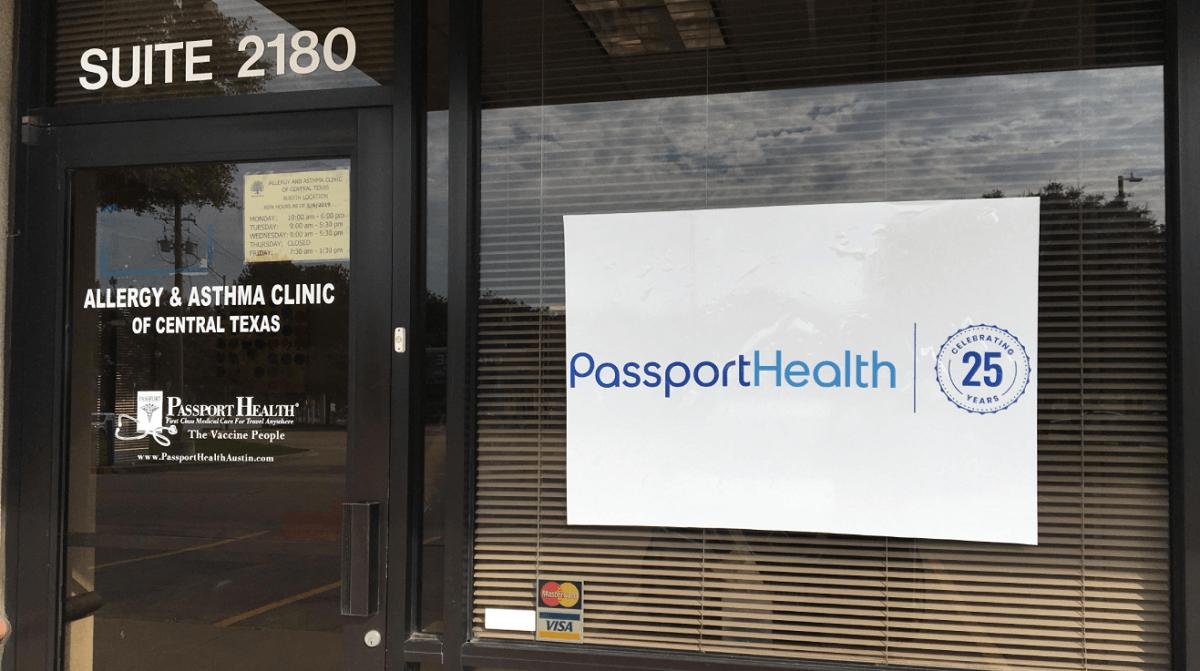 South Austin travel clinic entrance