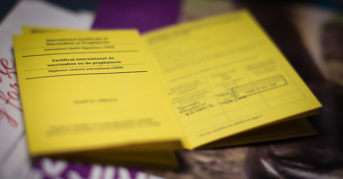 Many countries require a yellow fever card for entry.