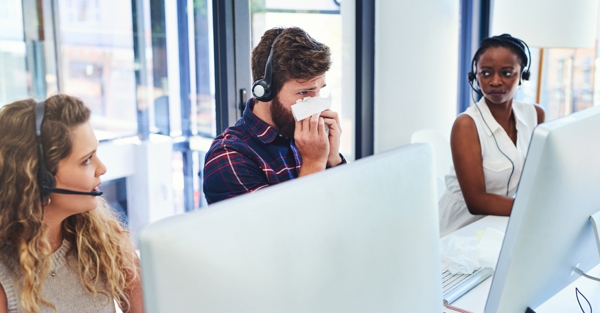 Tissues can prove vital in keeping the flu out of your office.