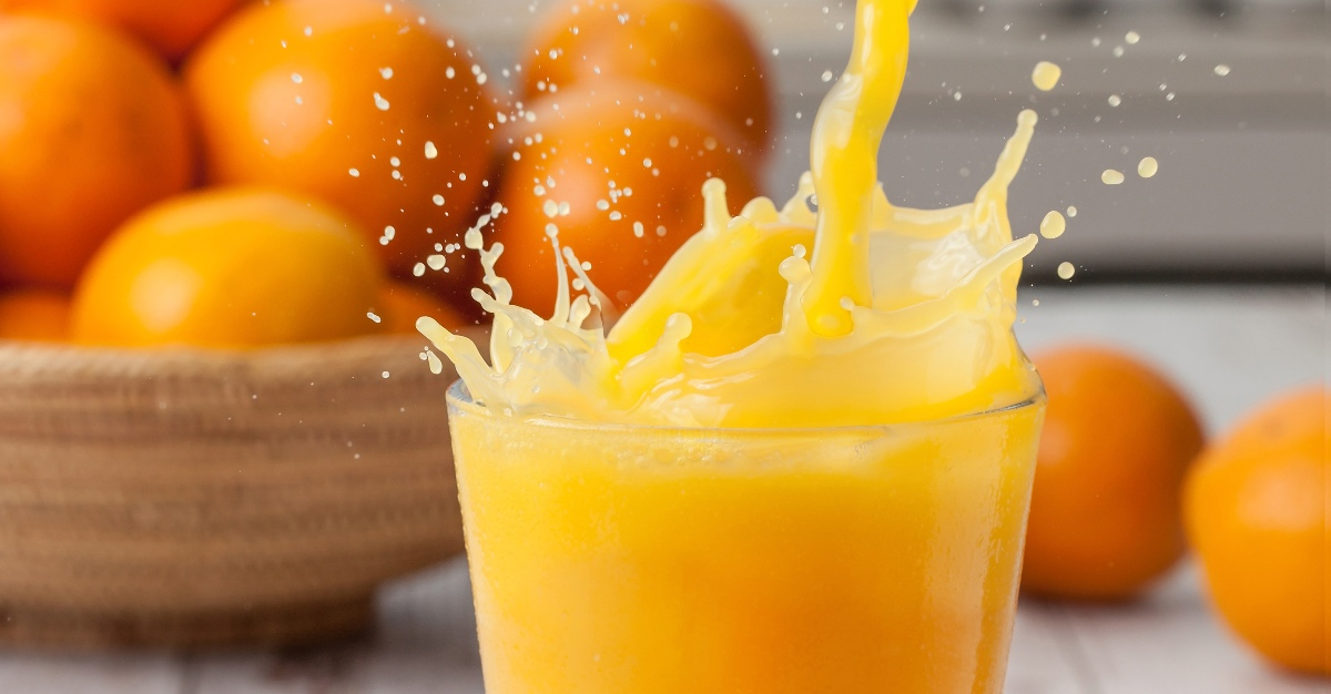 Sick people may find the needed vitamins and hydration in orange juice.