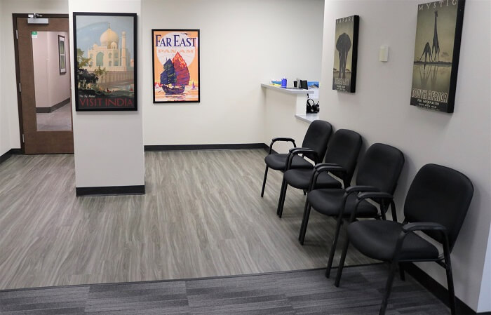 Passport Health Aurora travel clinic waiting room