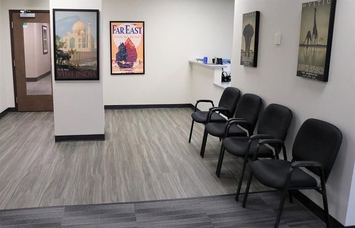 Passport Health Aurora travel clinic waiting room