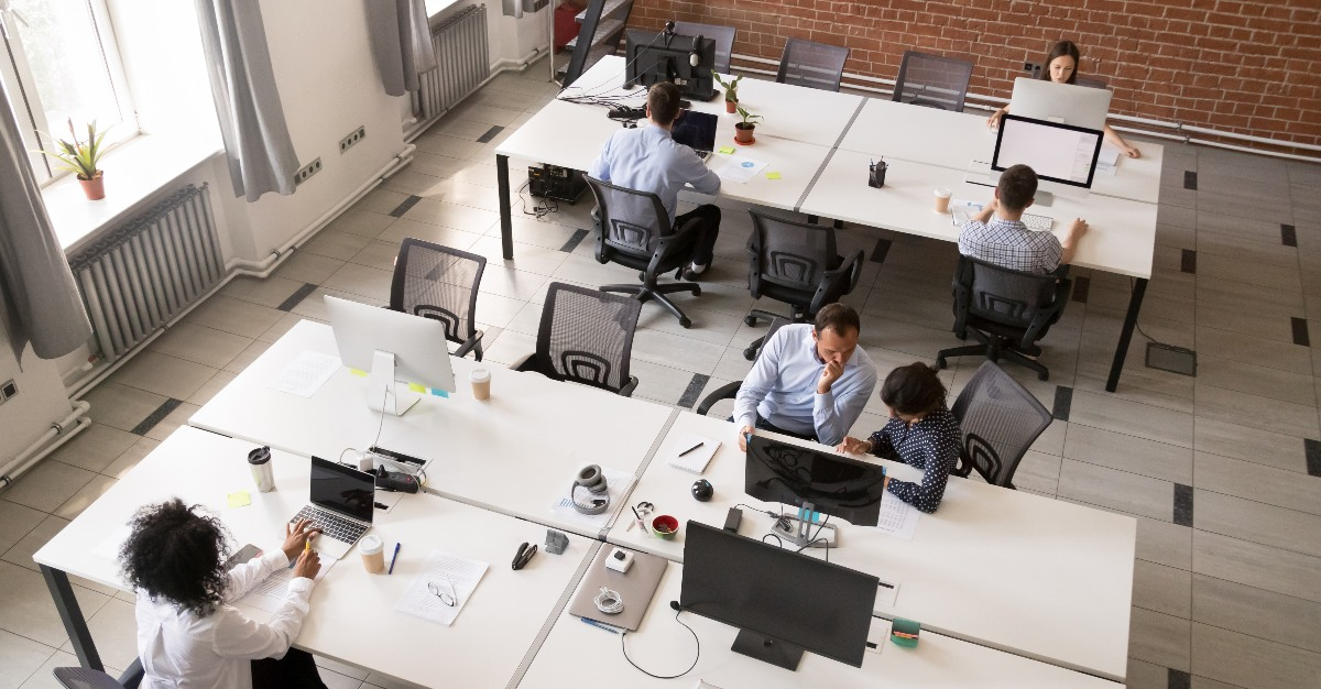 Increasingly popular open office plans may hurt the health of employees.