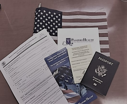immigration physicals pamphlets and paperwork