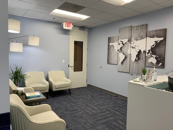 South End Charlotte travel clinic waiting room