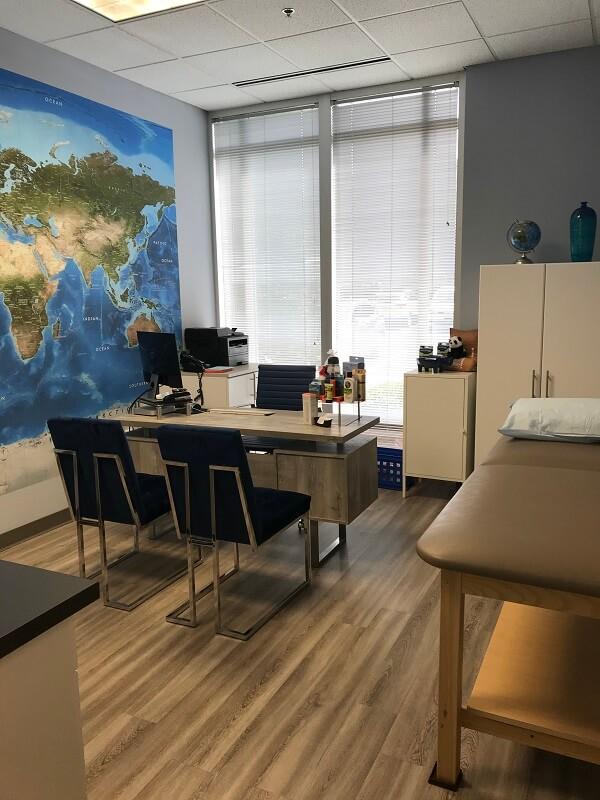 North Charlotte travel clinic consultation room